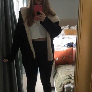 Zara furry cardigan